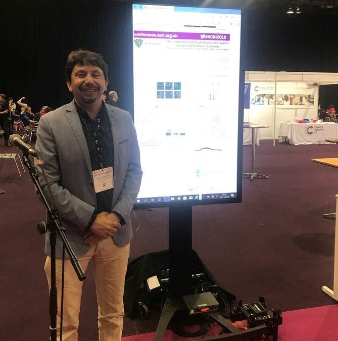 Director de Investigación de la UDA participó en Conferencia Internacional de Cáncer NCRI